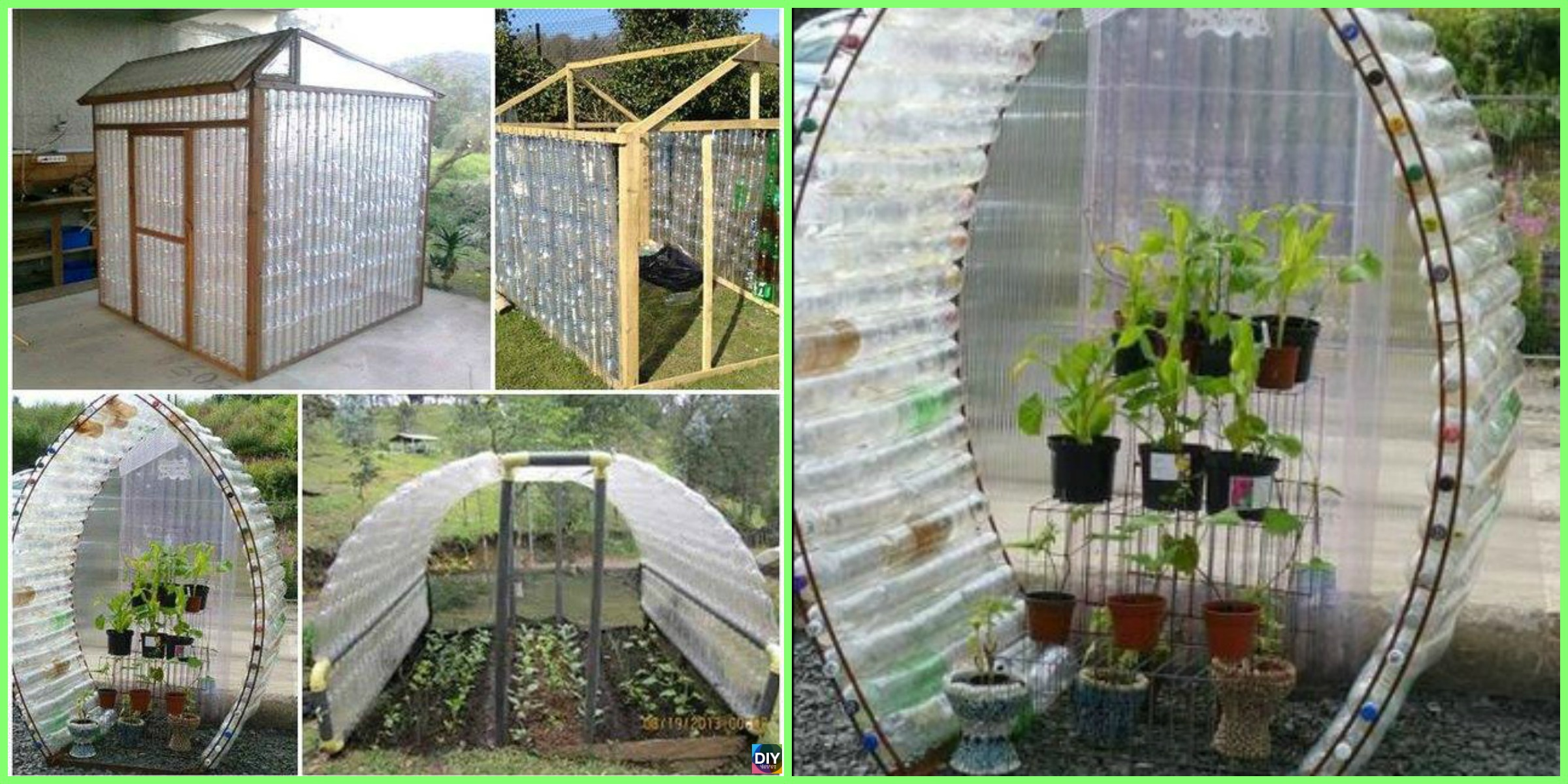 Recycled DIY Plastic Bottle Greenhouse