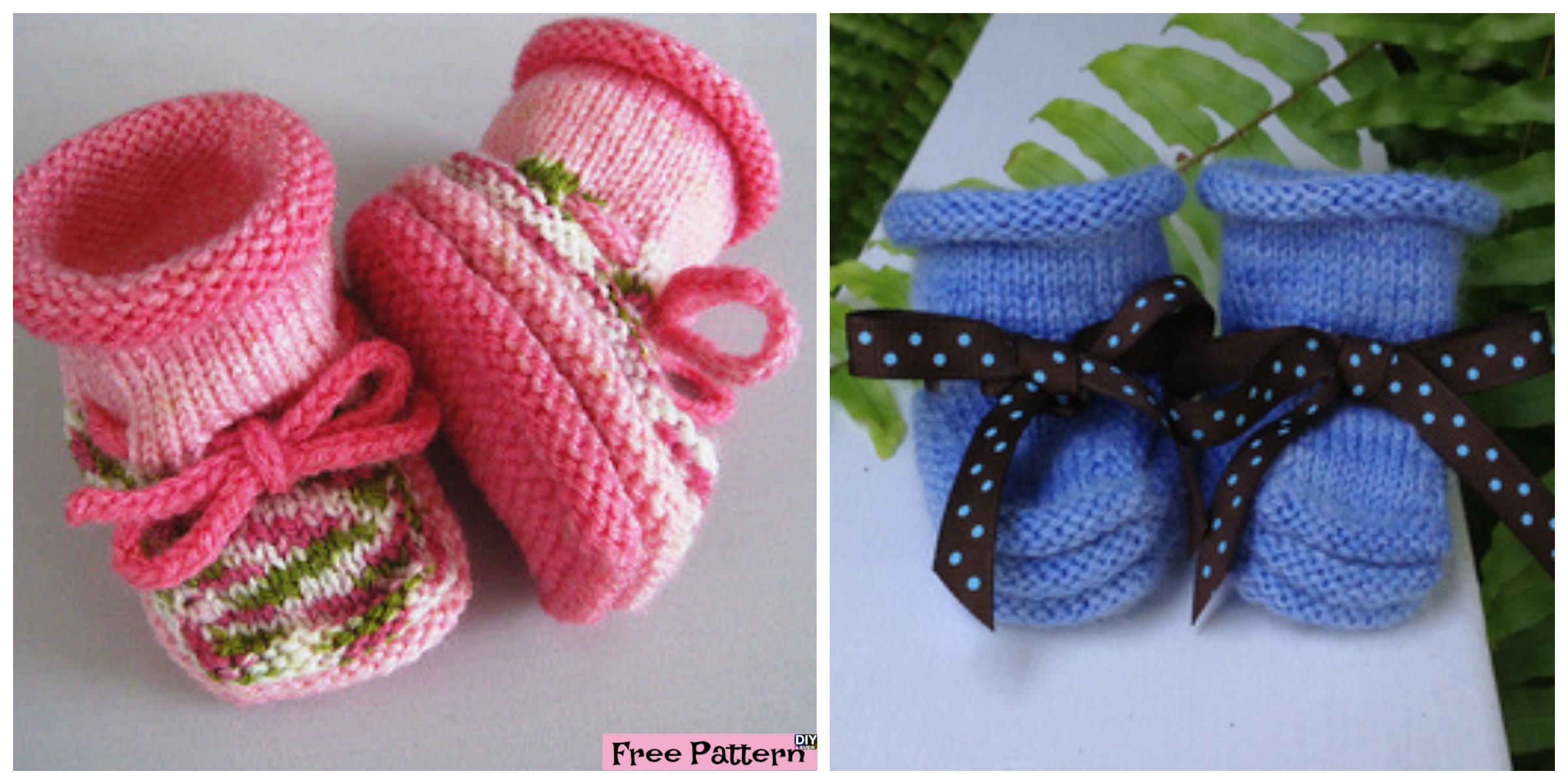 Stay-On Knitted Baby Booties – Free Pattern