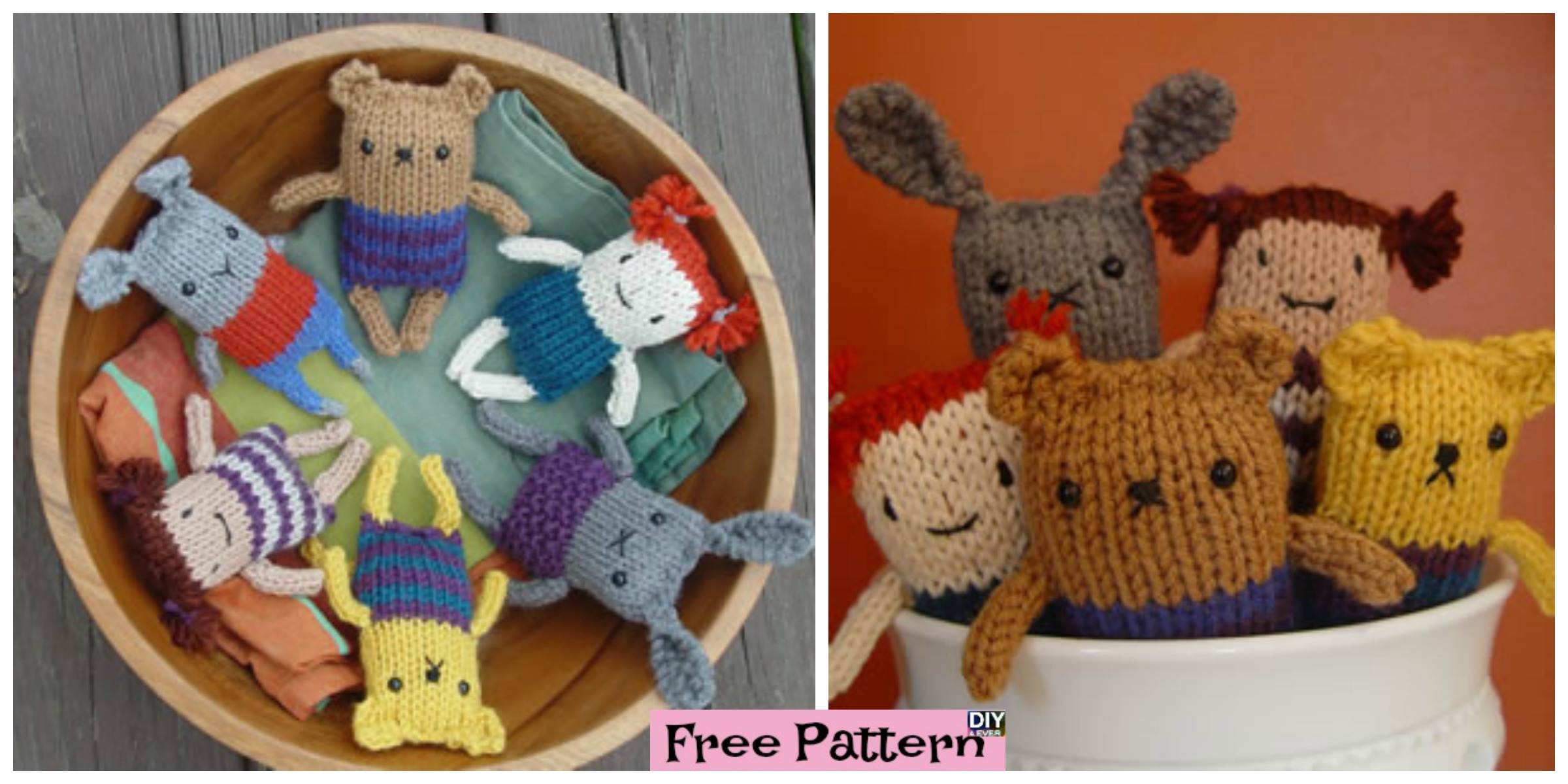 Super Cute Knitted Mini Animals – Free Pattern