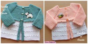 diy4ever- Sweet Crochet Baby Coat - Free Pattern