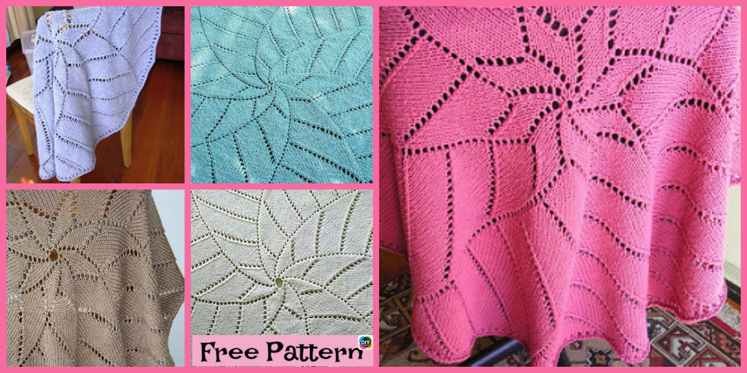 Unique Knit Radiating Star Blanket – Free Pattern