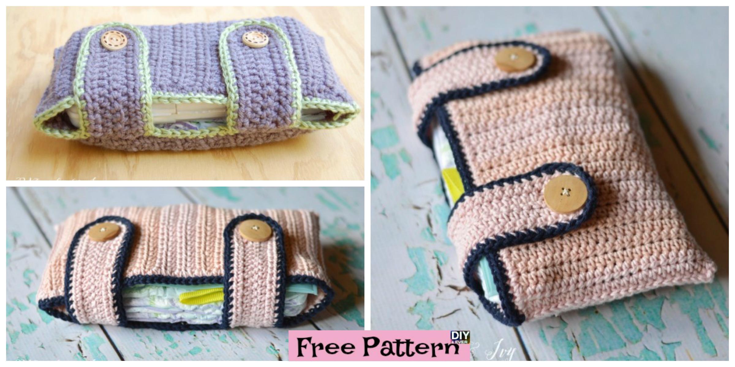 Useful Crochet Diaper Pouch – Free Pattern