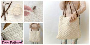 Double Seed Stitch Knit Bag - Free Pattern
