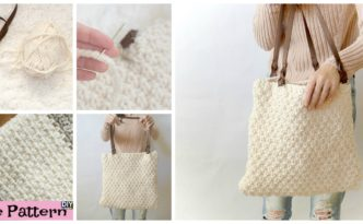Double Seed Stitch Knit Bag - Free Pattern