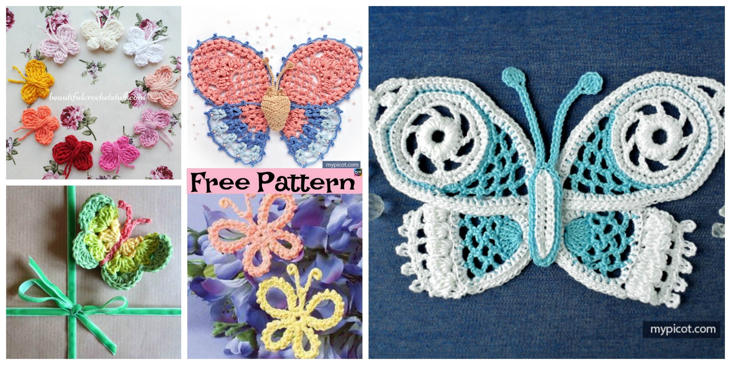15 Cutest Crochet Beautiful Butterfly – Free Patterns