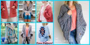 diy4ever-5 Beautiful Crochet Sweater Free Patterns