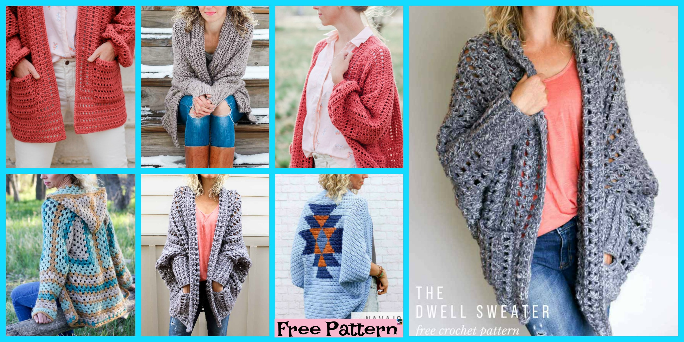5 Beautiful Crochet Sweater Free Patterns