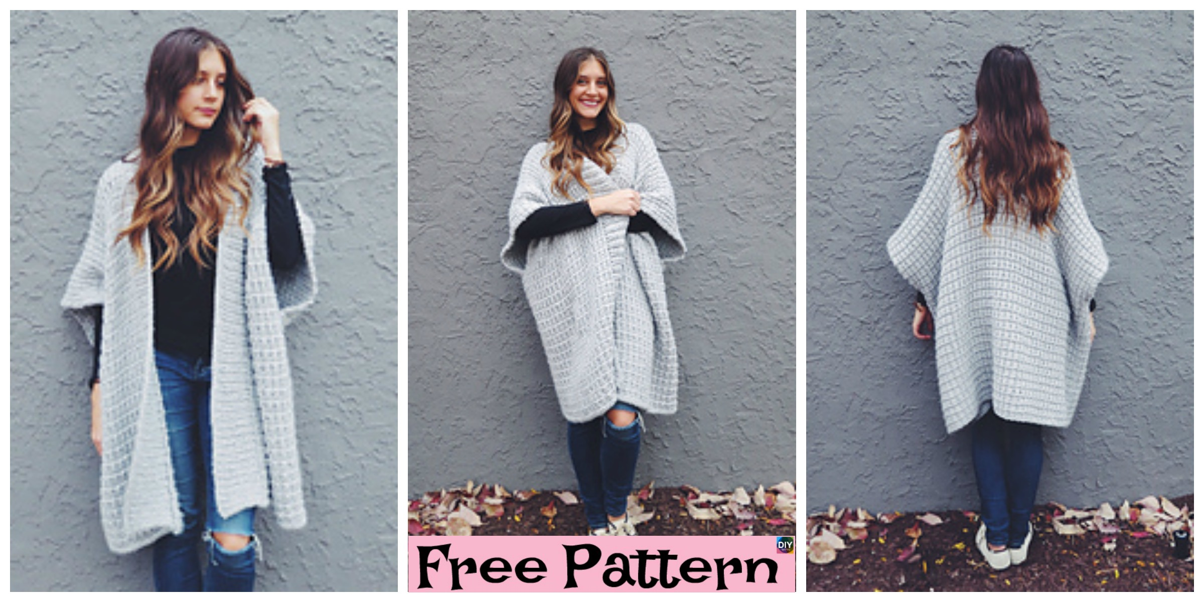 Cloaked in Clouds Knitted  Poncho – Free Pattern
