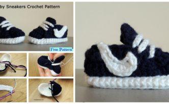 diy4ever-Crochet Baby Nike Sneakers - Free Pattern