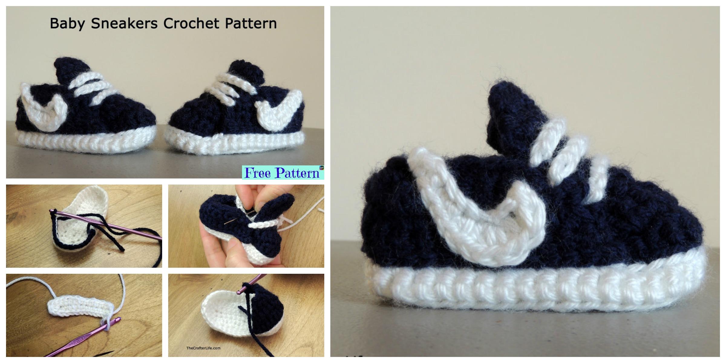 Crochet Baby Nike Sneakers – Free Pattern