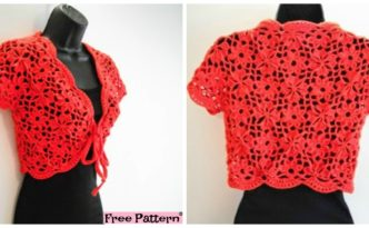 Crochet Flower Jacket with Motifs - Free Pattern