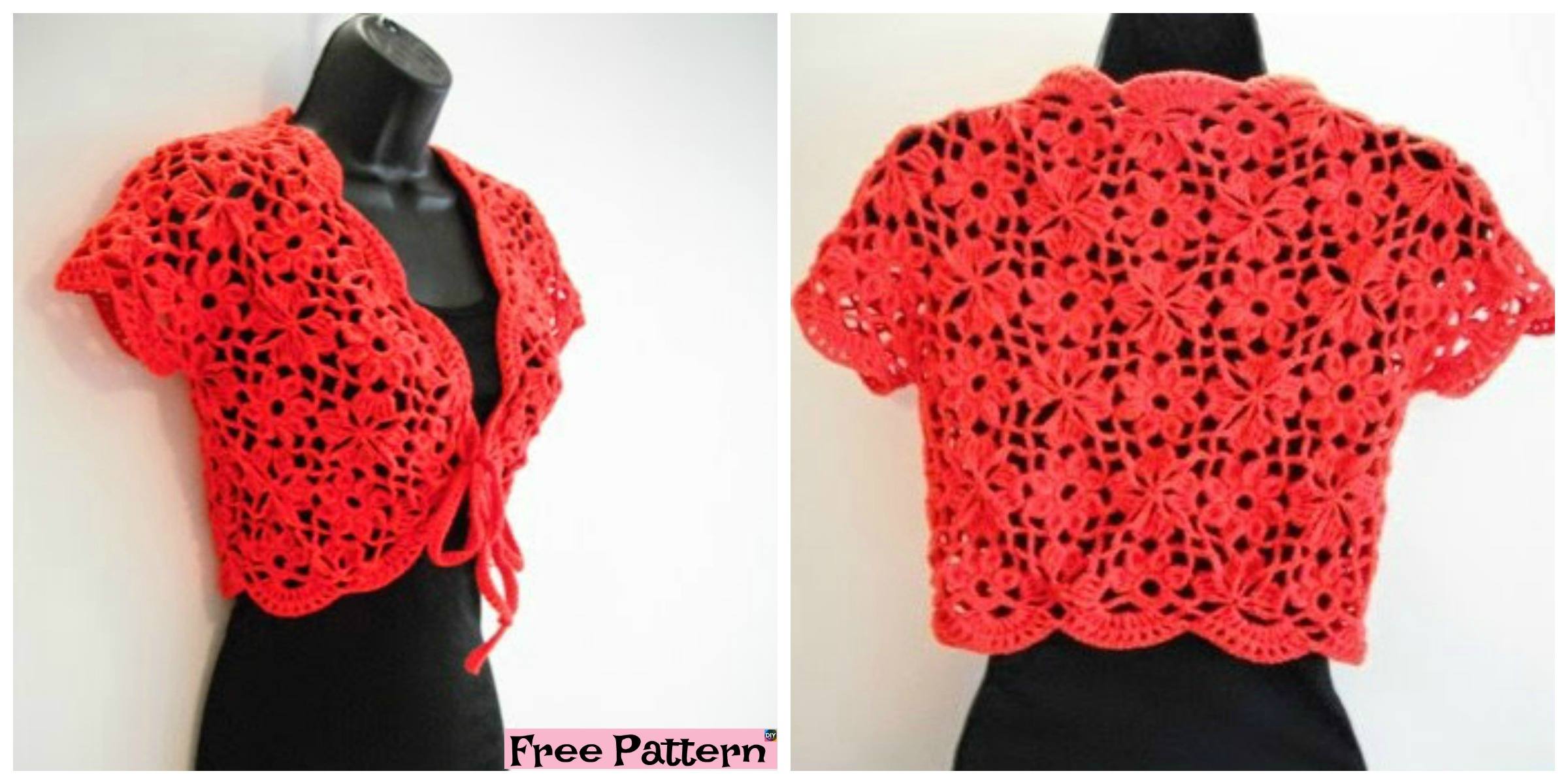 Crochet Flower Jacket with Motifs – Free Pattern & Video