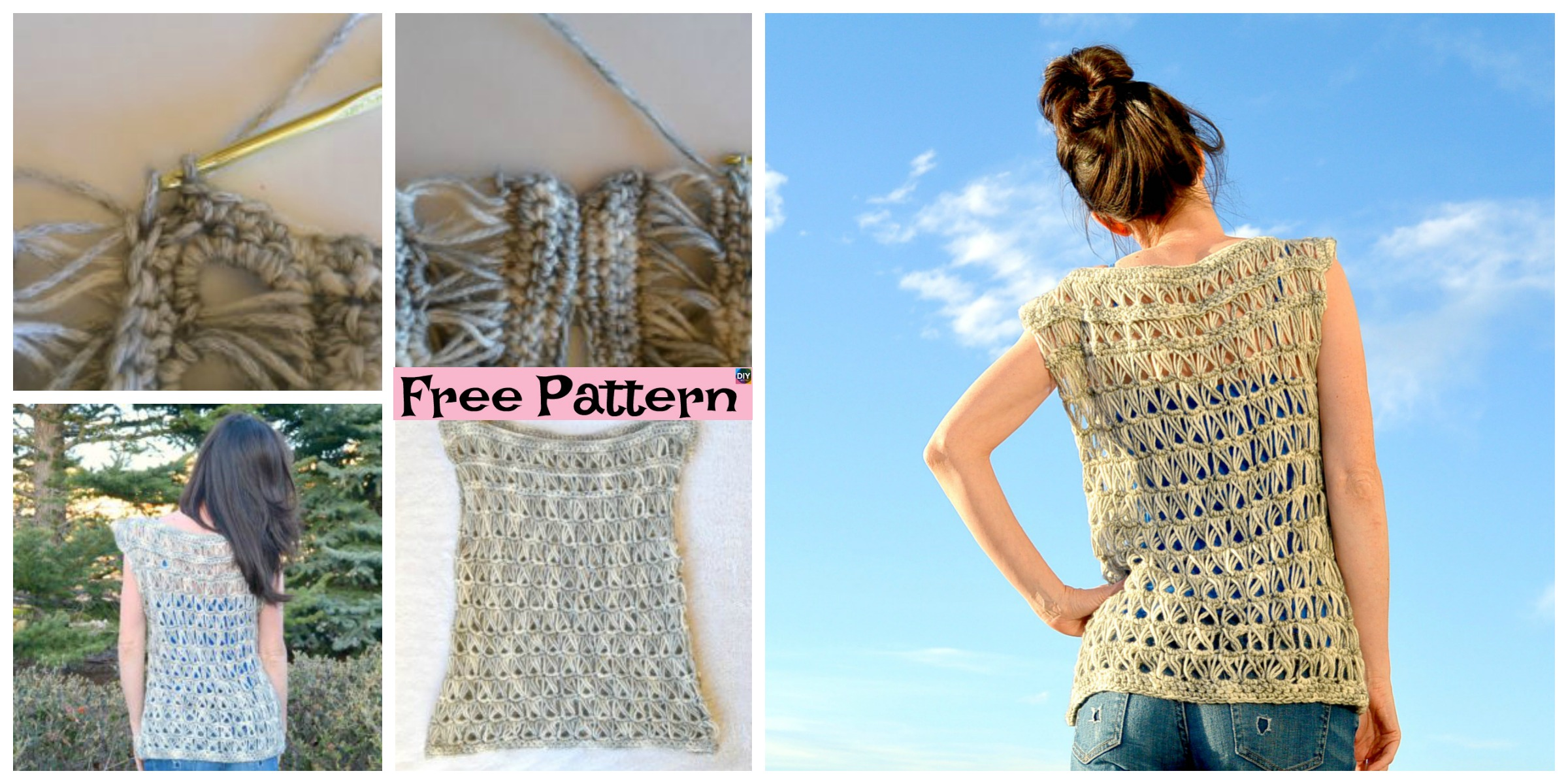 Broomstick Crocheted Lace Top – Free Pattern
