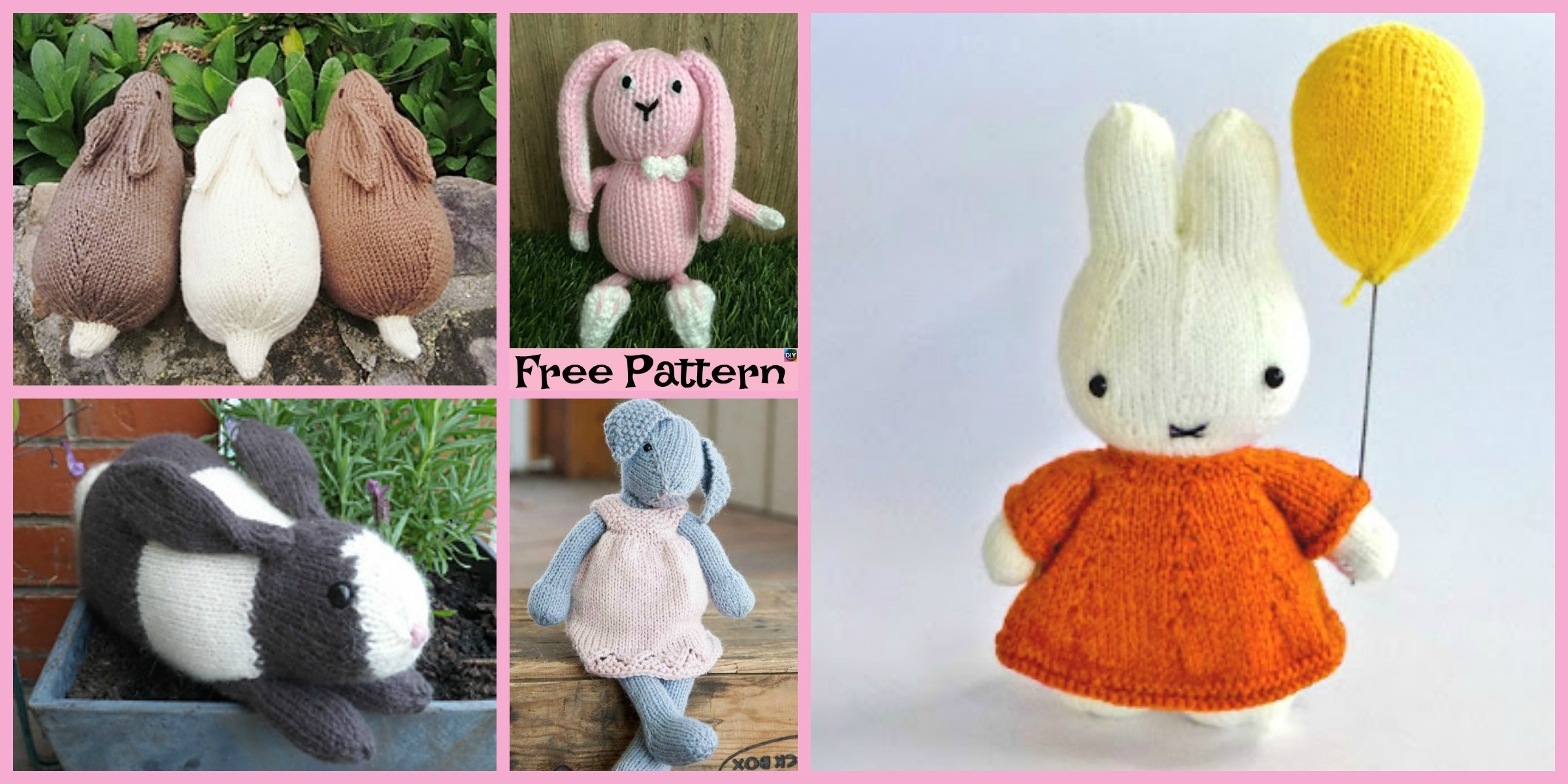 8 Knitted Adorable Bunny Free Patterns