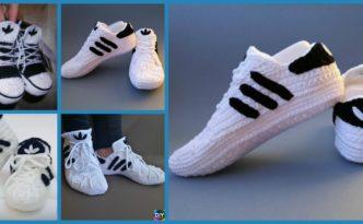 DIY4ever- Crochet Adidas Sneakers - Free Pattern