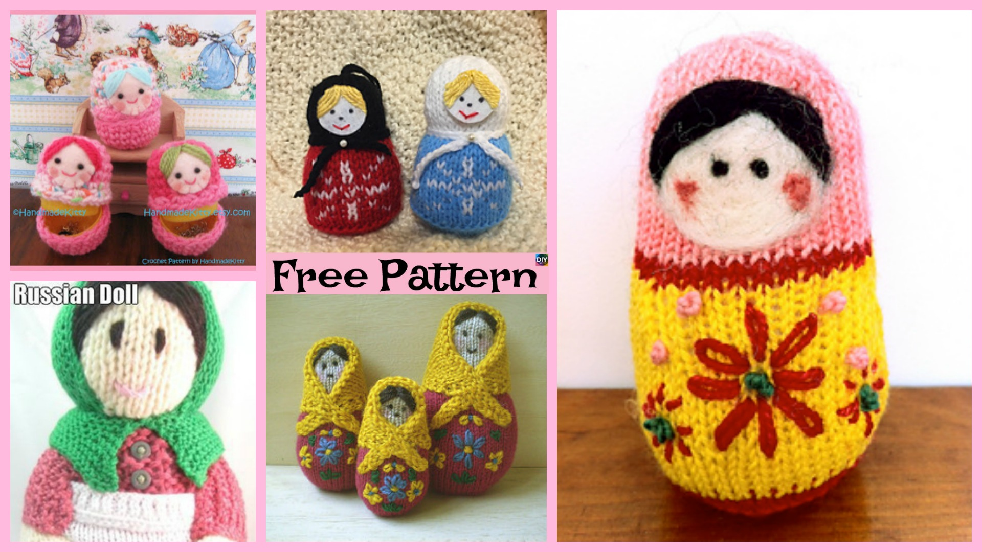 5 Adorable Knit Russian Dolls – Free Patterns