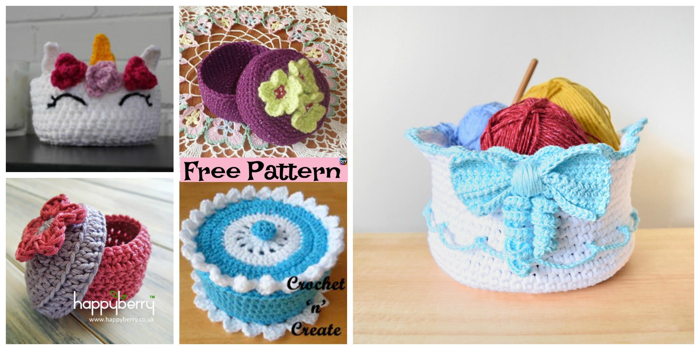 5 Pretty Crochet Trinket Box Free Patterns