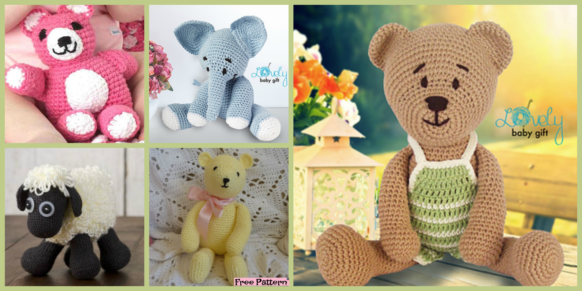 6 Crochet Amigurumi Animal Free Patterns