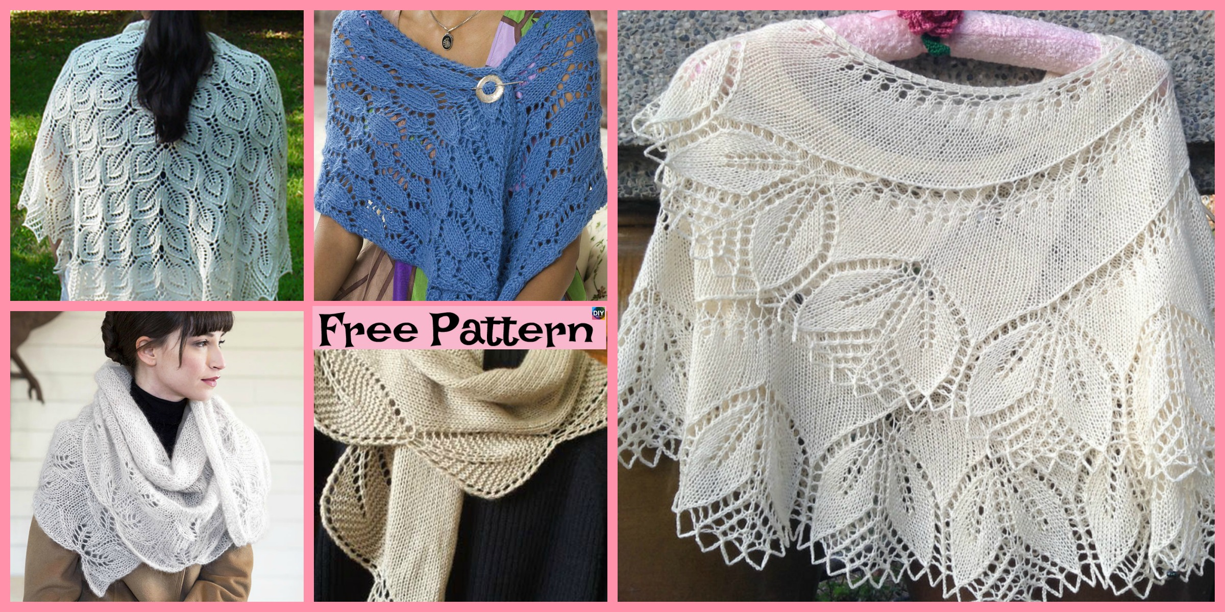 8 Pretty Knitting Lace Shawl Free Patterns