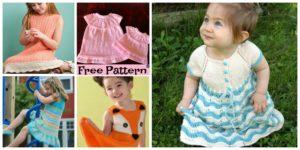 diy4ever- 8 Stylish Knitted Dress - Free Patterns