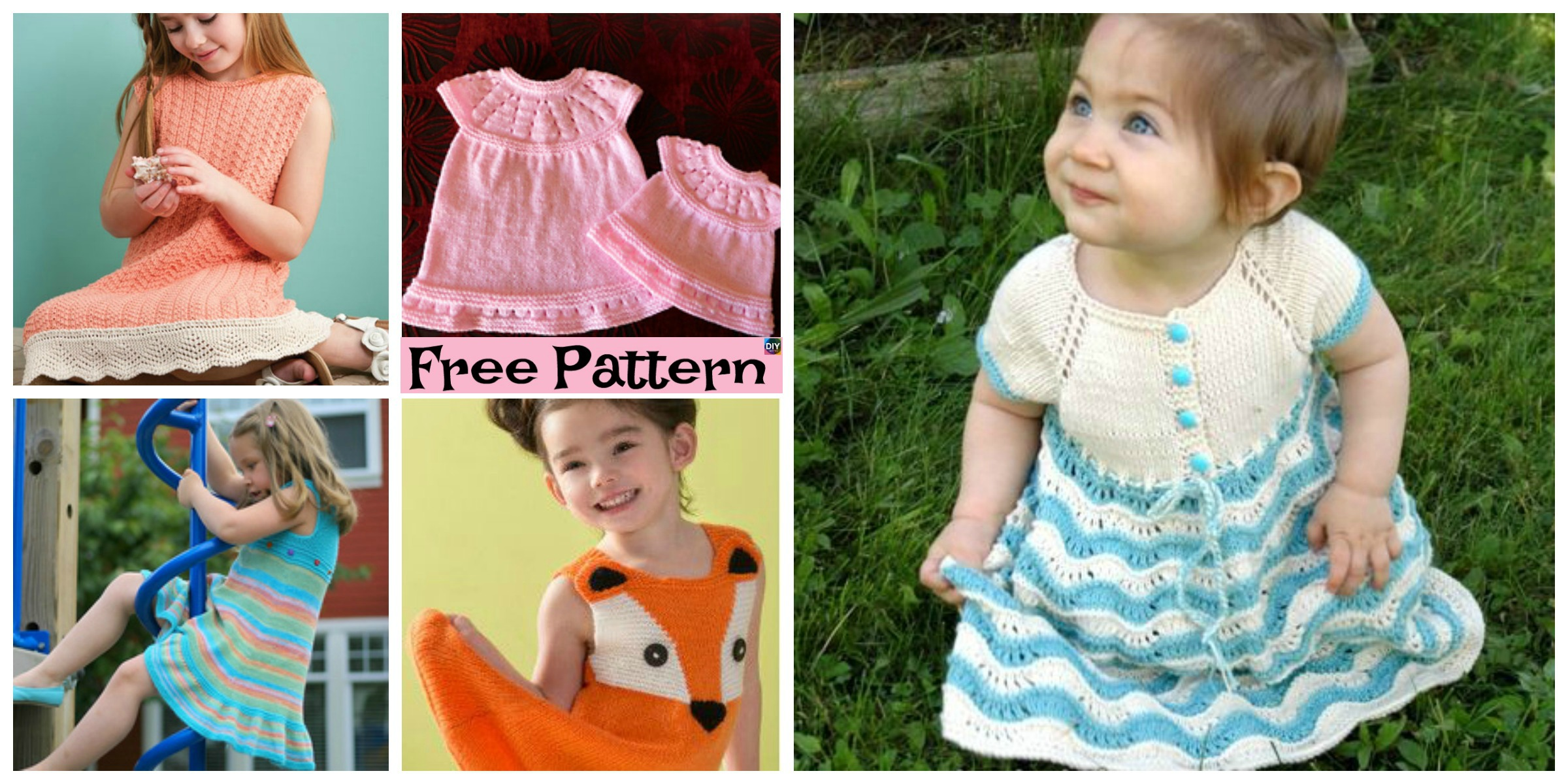 8 Stylish Knitted Dress – Free Patterns