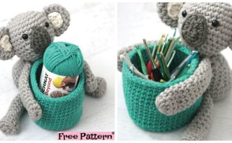 diy4ever- Adorable Crochet Koala Basket - Free Pattern