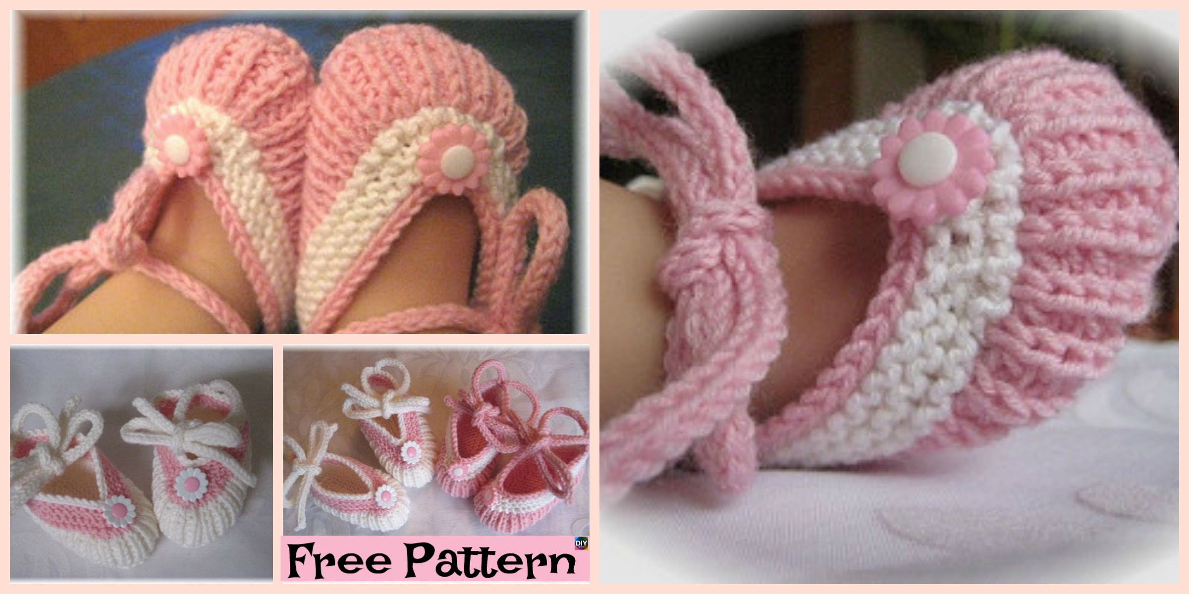 Adorable Knitted Baby Ballerina Booties – Free Patterns