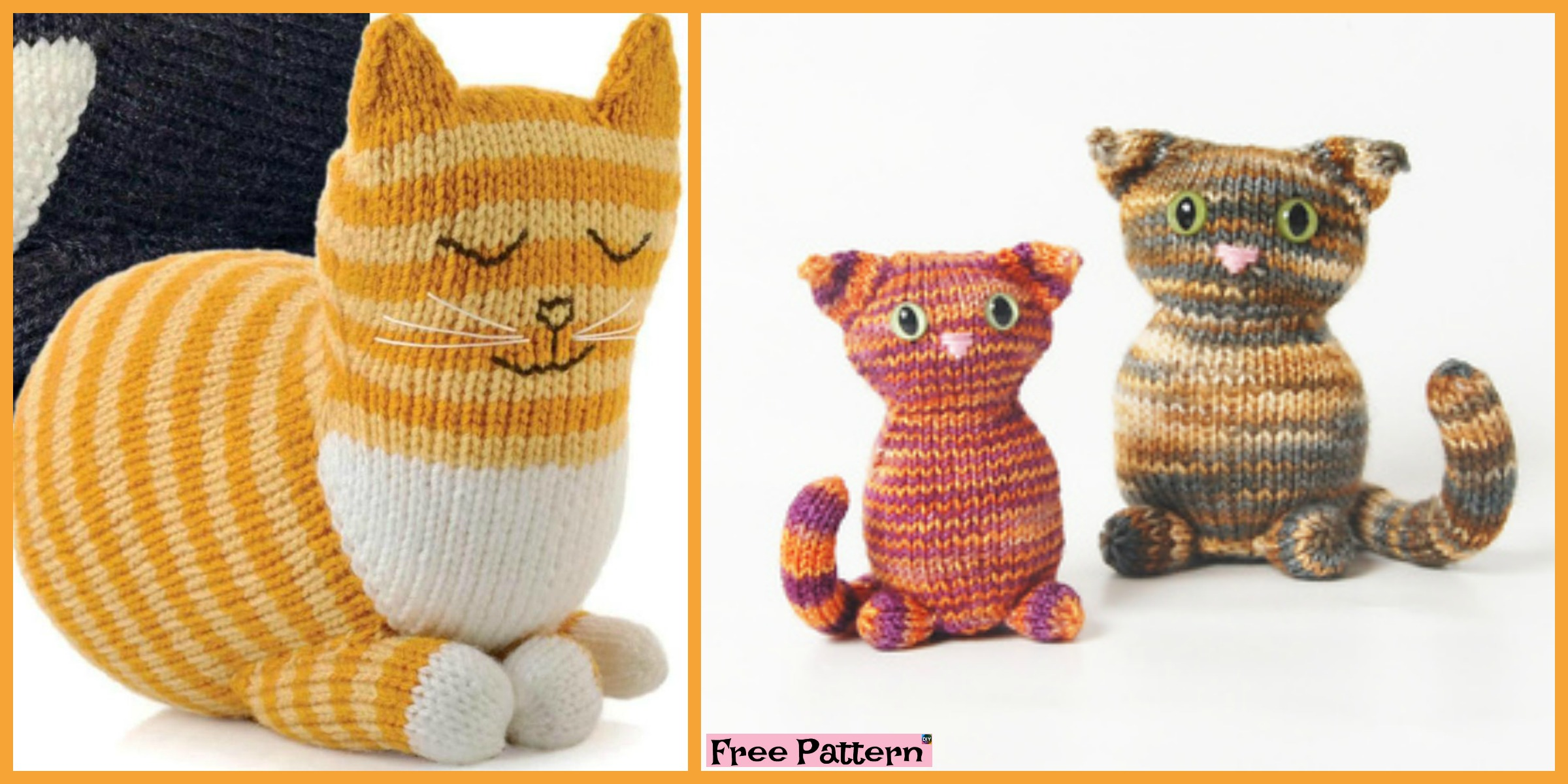 Adorable Knitted Kitty – Free Pattern