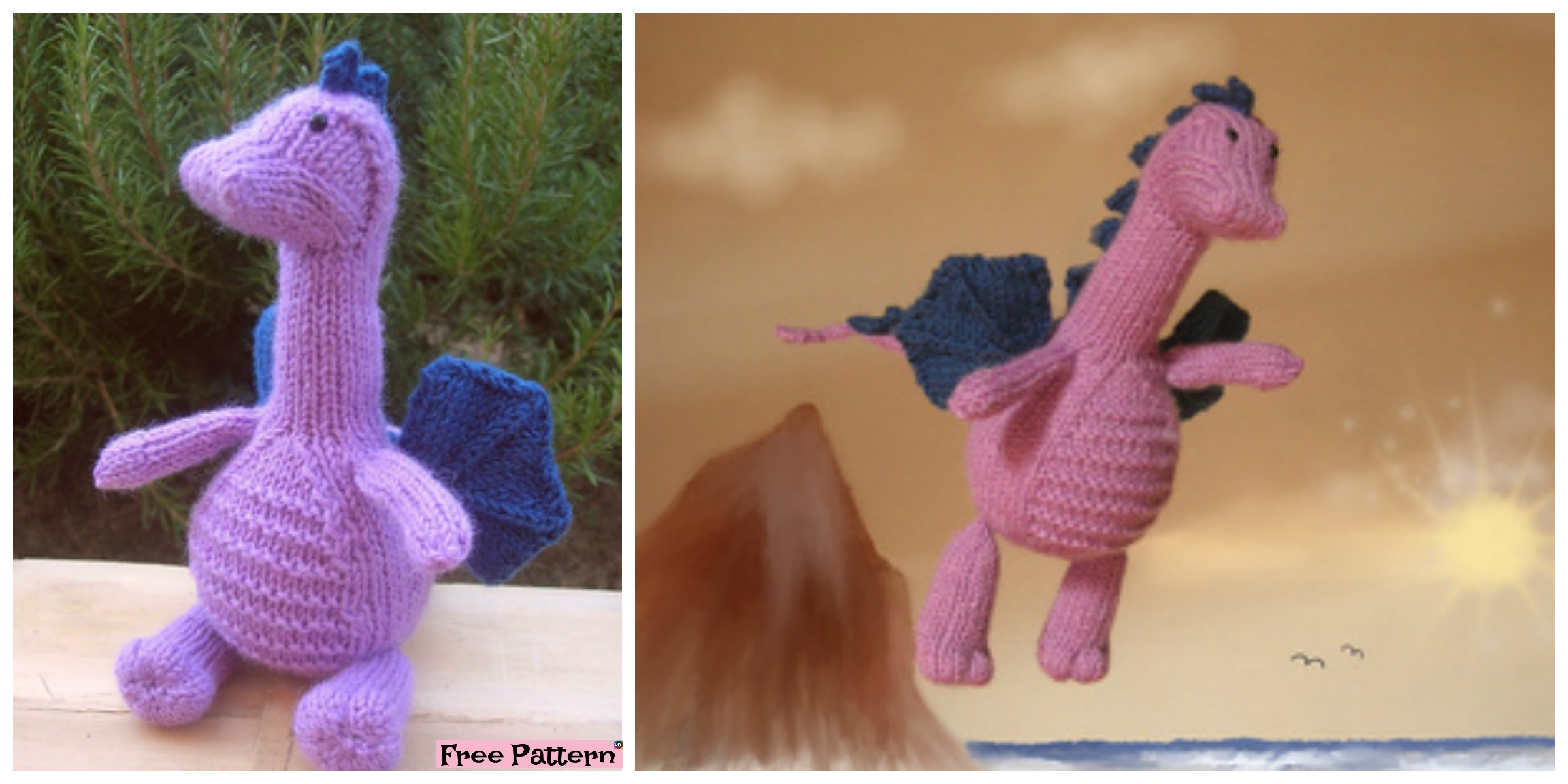 Adrorable Knit Gentle Dragon – Free Pattern