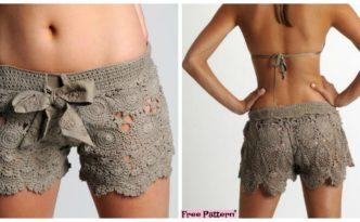 diy4ever- Amazing Crochet Lace Shorts - Free Pattern