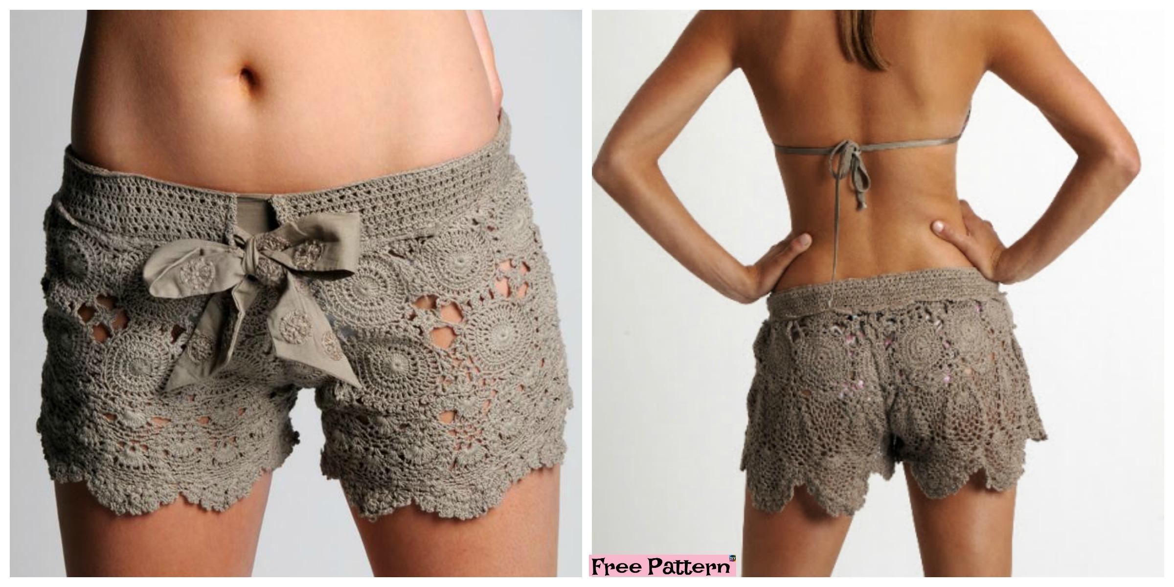 Amazing Crochet Lace Shorts – Free Pattern
