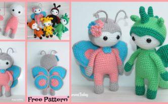diy4ever-Amigurumi Crocheted Butterfly Doll - Free Pattern