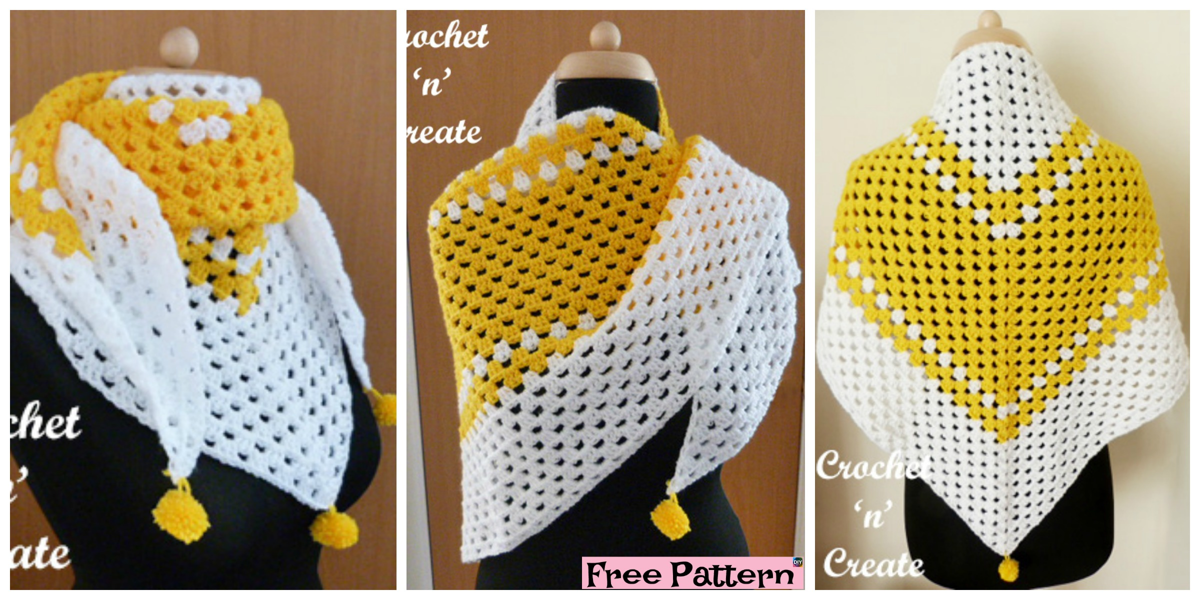 Beautiful Crochet Granny Shawl – Free Pattern