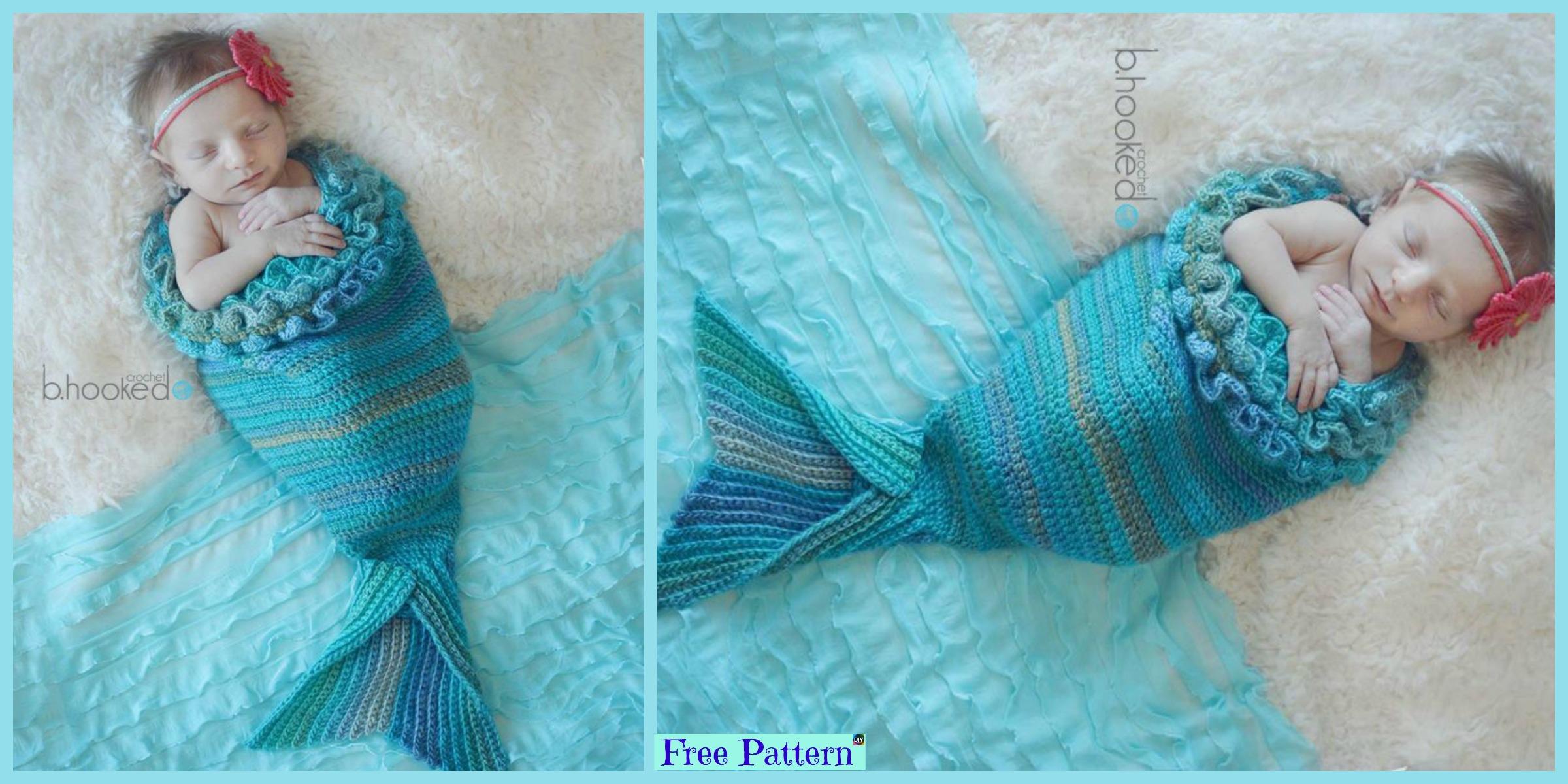 Beautiful Crochet Mermaid Cocoon – Free Pattern