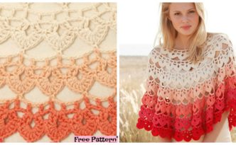 diy4ever- Beautiful Crochet Popsicle Poncho - Free Pattern
