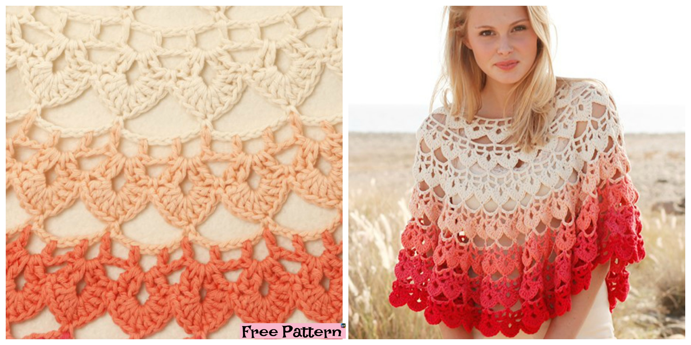 Beautiful Crochet  Popsicle Poncho – Free Pattern