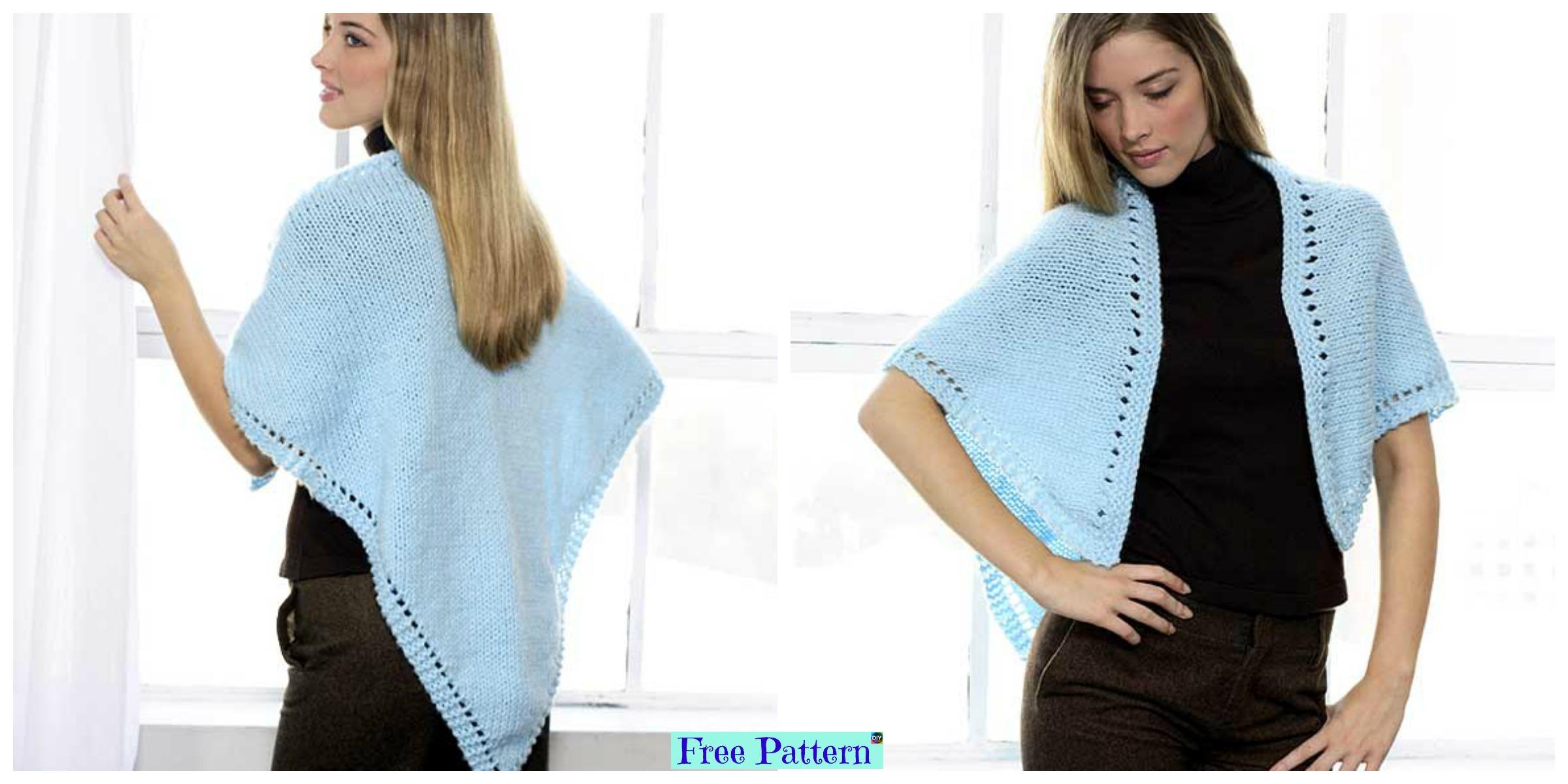 Beautiful Knitted Shawl  – Free Pattern