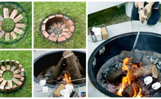 diy4ever-Build Fire Pit Tutorial - Step by Step