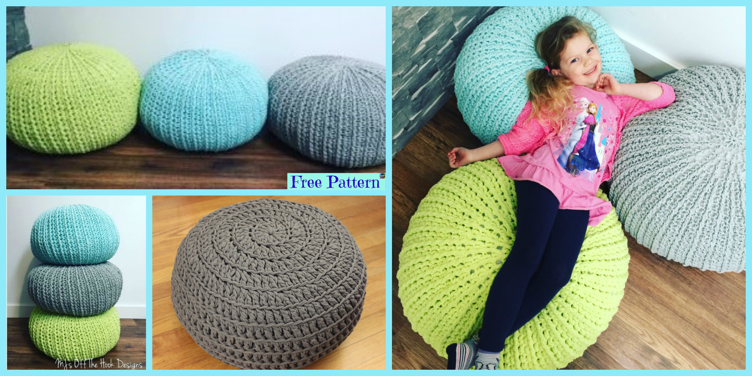 Cozy Crochet Floor Pouf – Free Pattern