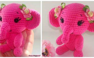 diy4ever- Crochet Amigurumi Elephant - Free Pattern