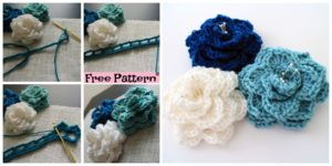 diy4ever-Crochet Crocodile Stitch Flower - Free Pattern