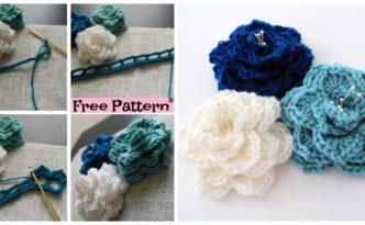 diy4ever-Crochet Crocodile Stitch Flower - Free Pattern