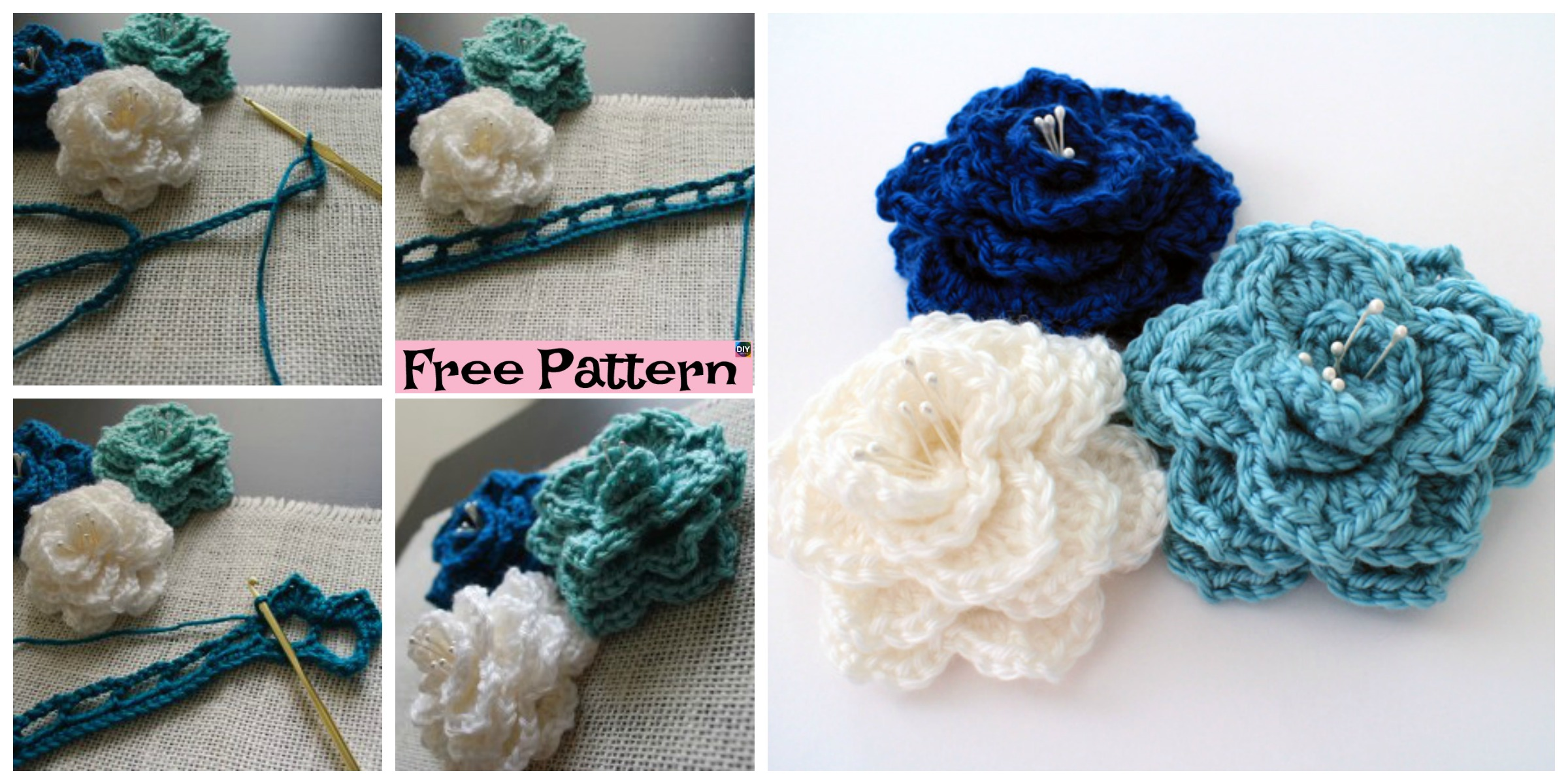 Crochet Crocodile Stitch Flower – Free Pattern