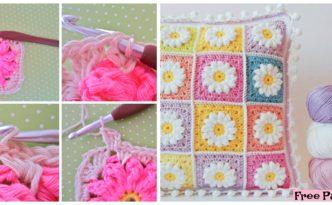 diy4ever- Crochet Daisy Granny Square - Free Pattern