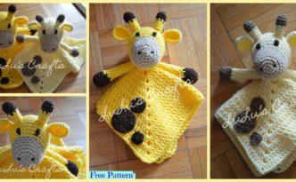 diy4ever-Crochet Giraffe Lovey - Free Pattern