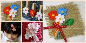 diy4ever- Crochet Mini Flower Decoration - Free Patten