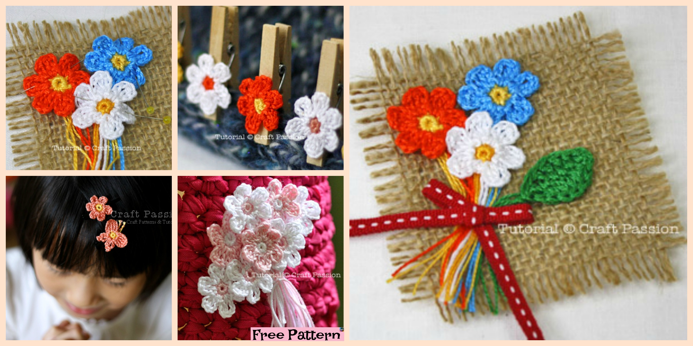 Crochet Mini Flower Decoration – Free Patten