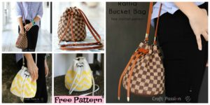 diy4ever-Crochet Raffia Bucket Bag - Free Pattern