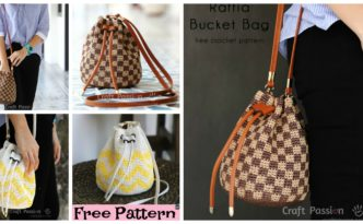 diy4ever-Crochet Raffia Bucket Bag - Free Pattern
