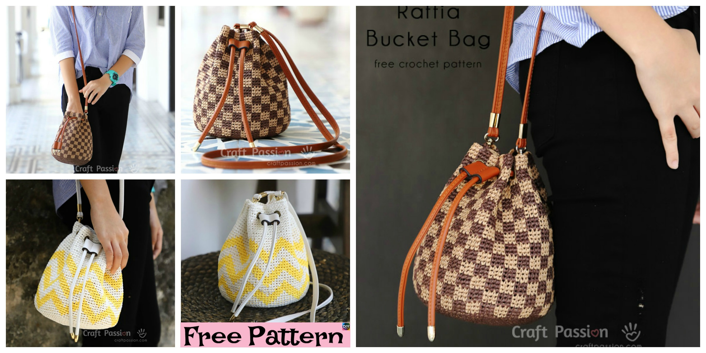 Crochet Raffia Bucket Bag – Free Pattern